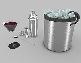 3D model Cocktail-and-Shaker