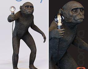 The Monkey Lamp Standing Version 3D asset