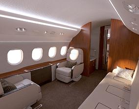 3D Buisiness jet interior