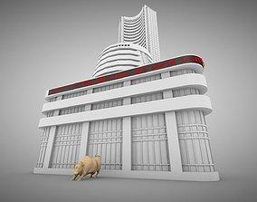 Bombay Stock Exchange 3D model low-poly