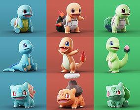 Pokemon - All Starters 3D model