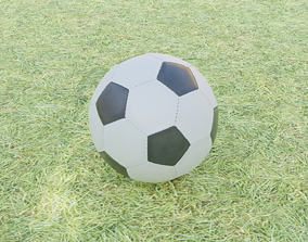 Simple Low Poly Soccer Ball Football 3D asset