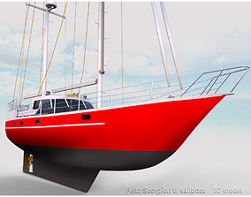 3D Feltz Scorpion III Sailboat
