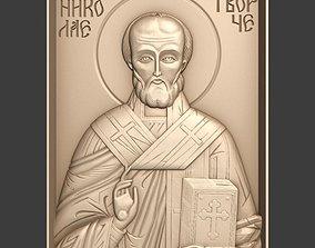 Orthodox Christian Icon of Saint Nicholas 3D print model