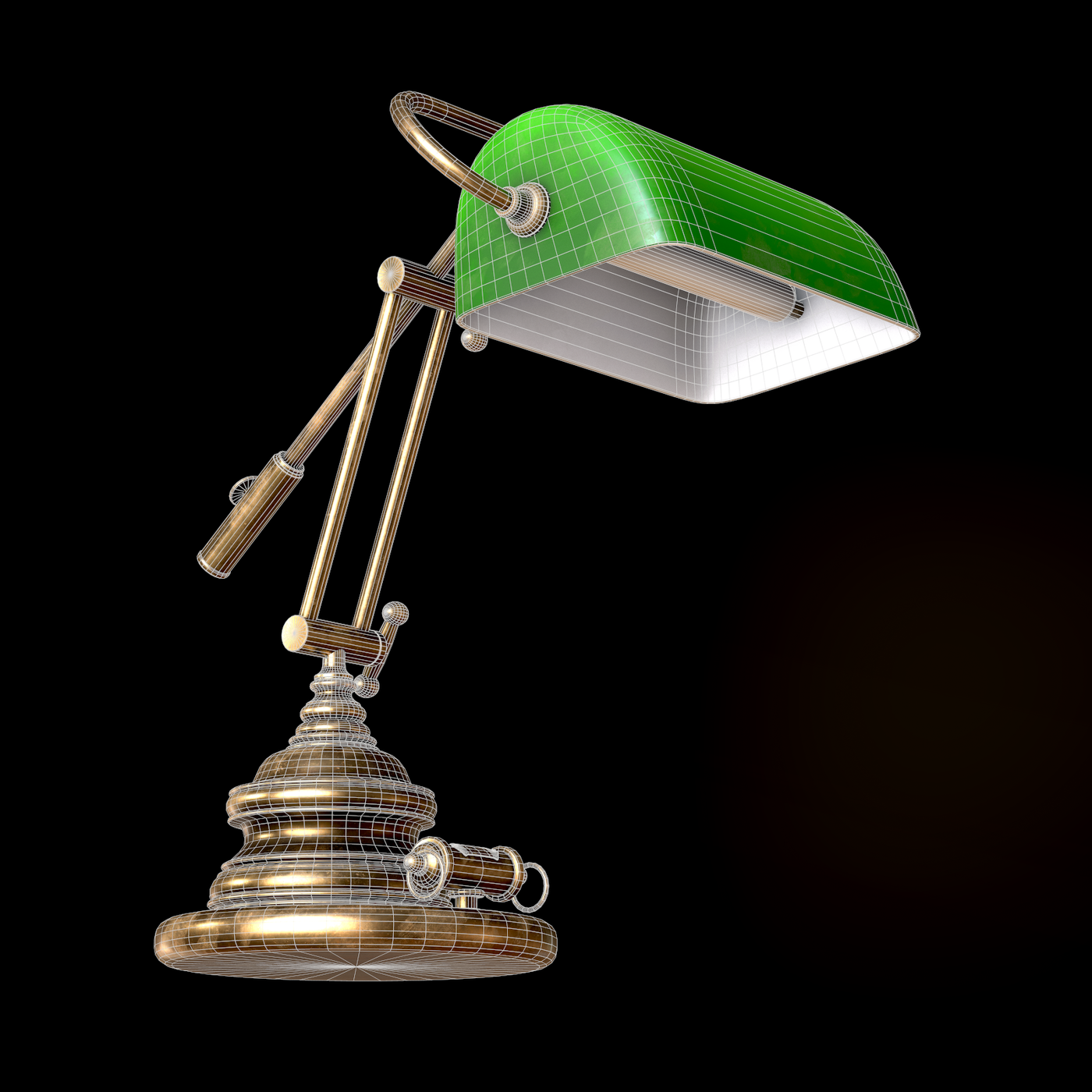 Classic Green Table Banker Lamp
