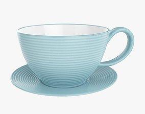 Coffee mug and saucer 03 3D model