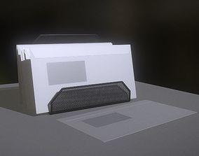 3D model Wire Mesh Letter Holder - High Poly