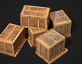 3D asset Wooden Shipping Container