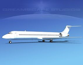 3D model McDonnell Douglas MD-87 Unmarked 2