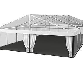 Transparent Marquee wedding tent 3D asset