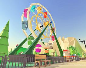 3D asset animated Amusement Park
