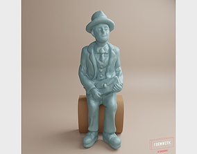 3D printable model Figure-Man in fifties-comic style-01