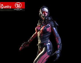 3D asset Sci Fy Girl