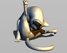 Cat licks balls 3D printable model
