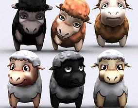 3DRT - Chibii Sheep animated low-poly