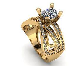wedding ring 3D print model brilliant