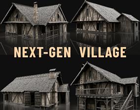 ENTERABLE AAA NEXT GEN MEDIEVAL CITY TOWN HOUSE 3D model 2