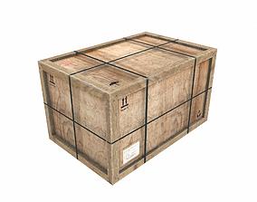 Old Wooden Cargo Crate 11 PBR 3D asset