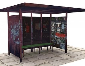 Bus shelter 3D