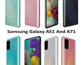 3D Samsung Galaxy A51 And A71