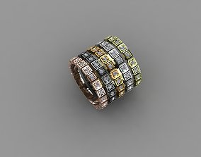 new trend gold and silver rings 3D printable model