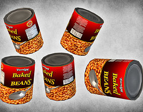 Canned Beans 3D asset