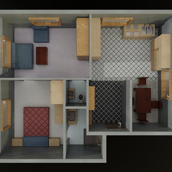 Low poly appartment