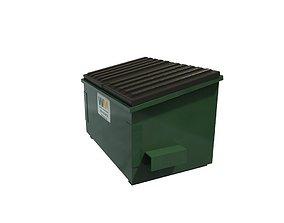 3D asset game-ready Dumpster