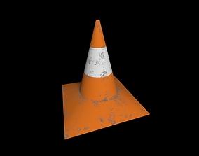 freeway Traffic cone 3D model realtime PBR