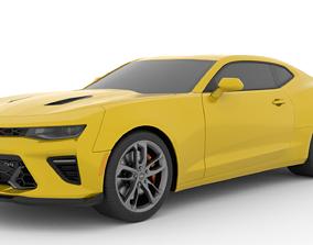 3D model Chevrolet Camaro SS 2017 Low Poly