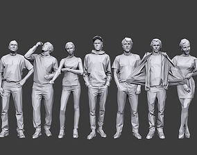3D asset Lowpoly People Casual Pack Volume 19