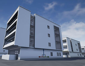 Residential Buildings Set 3D asset