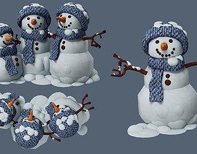 frosty 3D model snowman