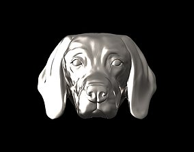 English Pointer bas relief for 3D printable model