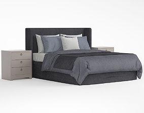 blanket 3D model bed contomporary