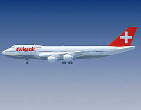 3D Swiss Air Model Boeing