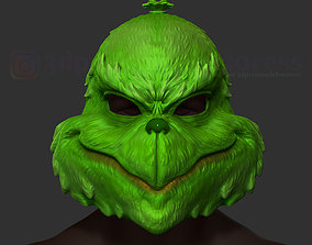 The Grinch Mask Christmas Costume 3D printable model 2