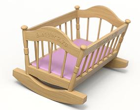 Wooden Cradle 3D