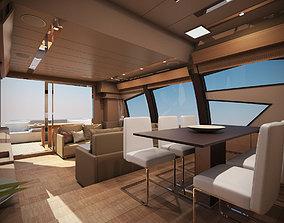 Yacht Ferretti 720 3D model