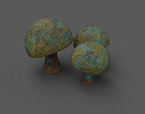 3D model VR / AR ready Alien Flora