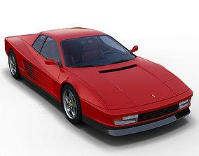 tr 3D model Ferrari Testarossa