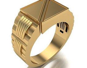 3D printable model MAN RING silver