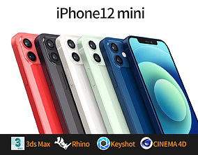 Apple iphone 12mini mobile phone 3D model 3D model 3D