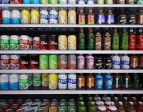 Japanese Drinks - Beer Tea Chuuhai Soda 3D model