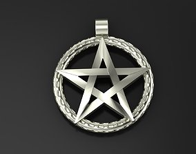 Pendant Pentagram 3D printable model