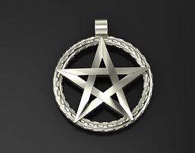 Pendant Pentagram 3D printable model