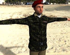 Army commandor 3D asset