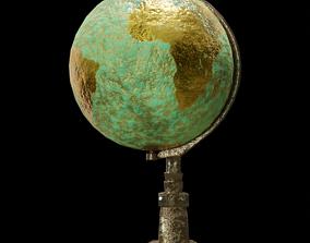 3D Antique Style Globe
