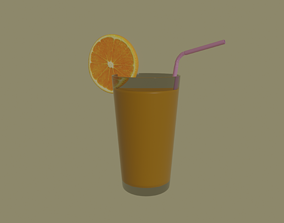 3D model rigged Orange Juice