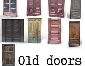 3D model Old wooden doors